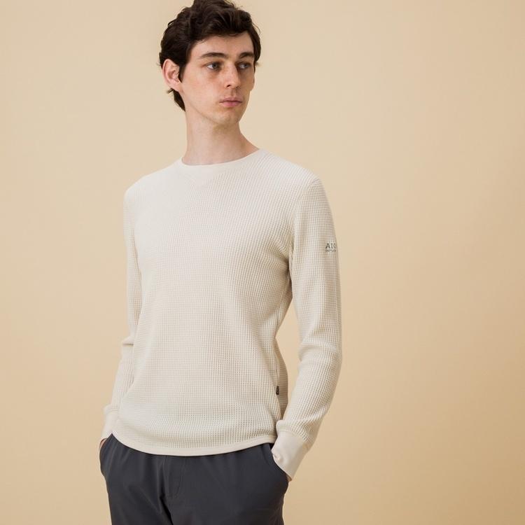 AIGLE(エーグル)/吸水速乾 裾ラウンドワッフルロングスリーブTシャツ