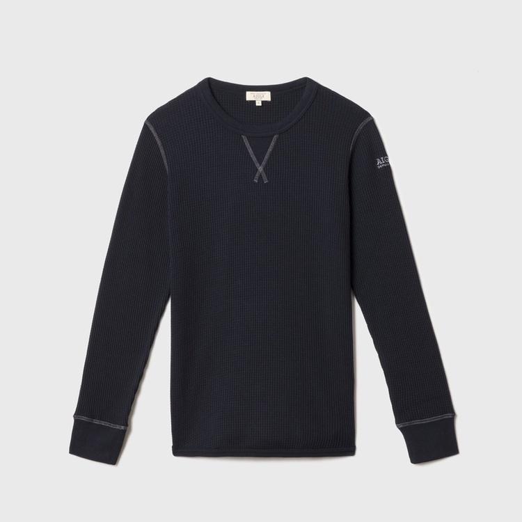 AIGLE(エーグル)/レディース 吸水速乾 裾ラウンドワッフルロングスリーブTシャツ