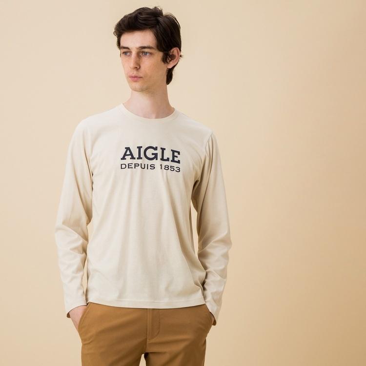 吸水速乾 ロゴプリントロングスリーブTシャツ