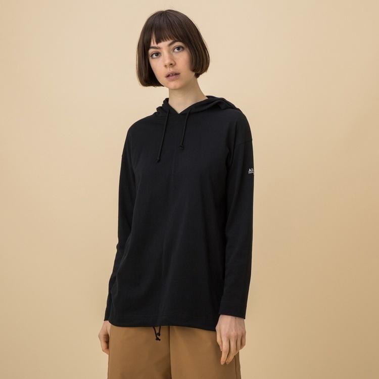 AIGLE(エーグル)/吸水速乾 フーデットコットンパーカーTシャツ