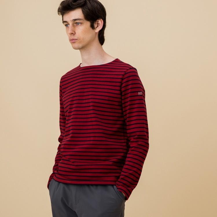 AIGLE(エーグル)/吸水速乾 バスクベーシックロングTシャツ