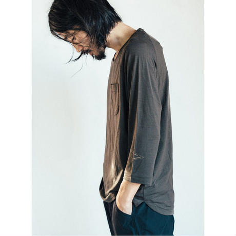 atelierBluebottle(アトリエブルーボトル)/Hiker's T-shirt (8sleeve) size:M
