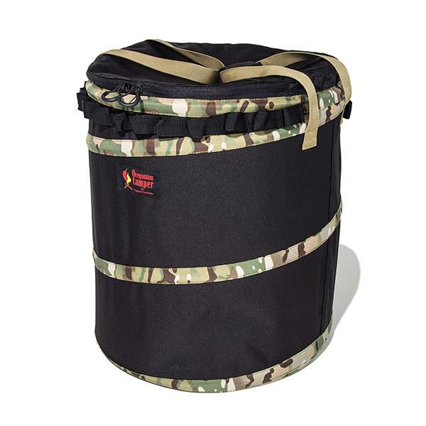 ポップアップトラッシュボックス (ブラック×マルチカモ)/オレゴニアンキャンパー(Oregonian Camper)