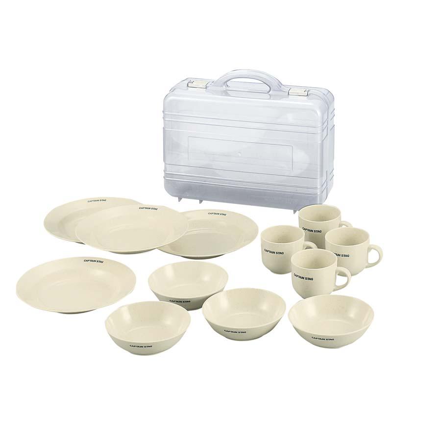 メラミン食器セット(キャリングケース付き)
