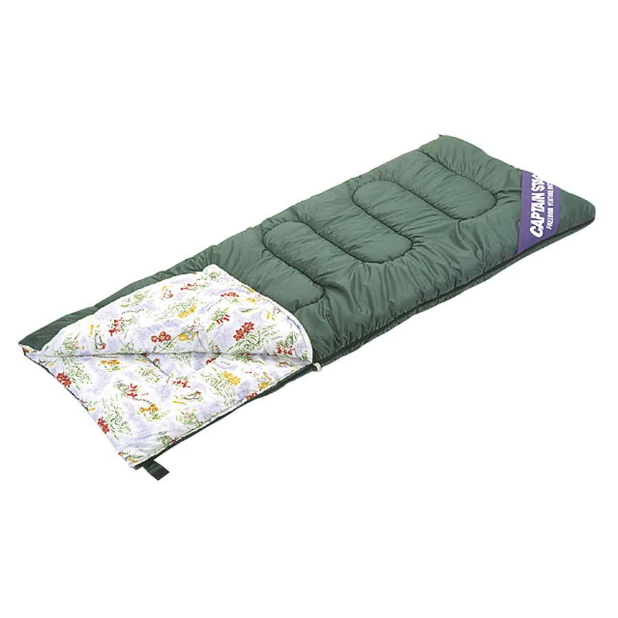 CAPTAIN STAG(キャプテンスタッグ)/NEWフォリア シュラフ(寝袋)<封筒型> 3シーズン用(高山植物柄)