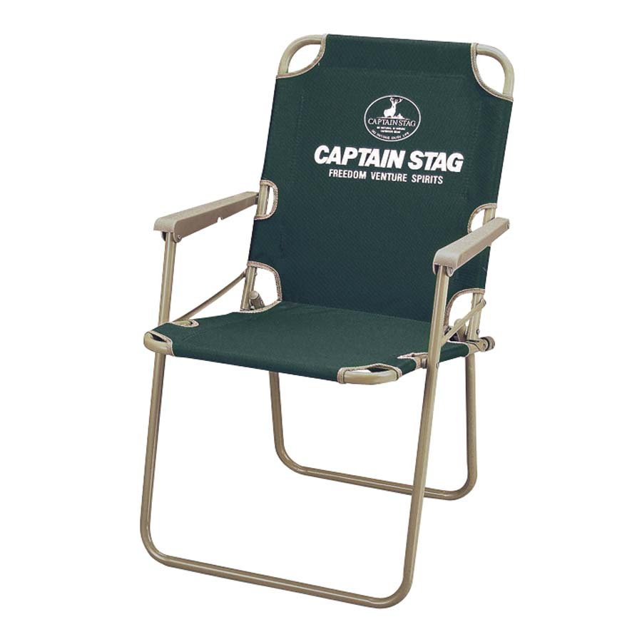 CAPTAIN STAG(キャプテンスタッグ)/CS パイプフォールディレクターチェア(グリーン)