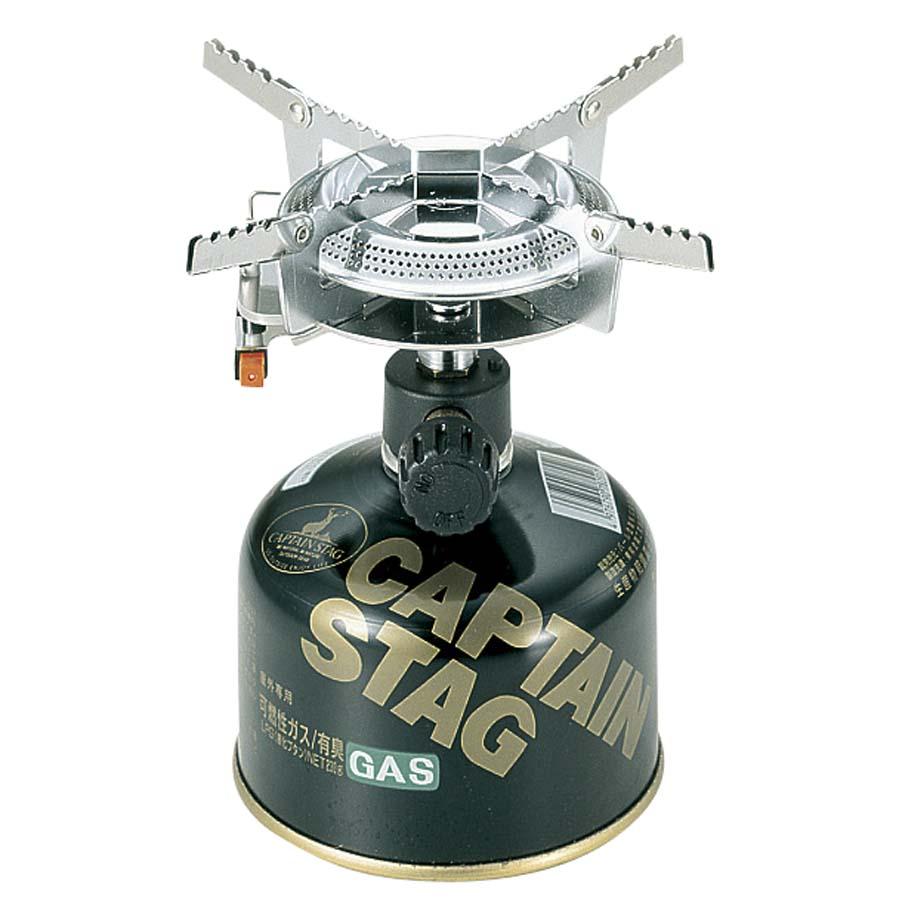 オーリック 小型ガスバーナーコンロ〈圧電点火装置付〉(ケース付)