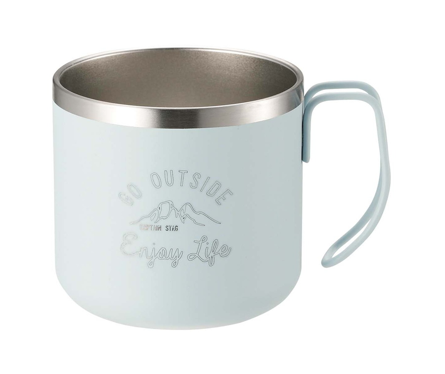モンテ ダブルステンレスマグカップ350(サックス)