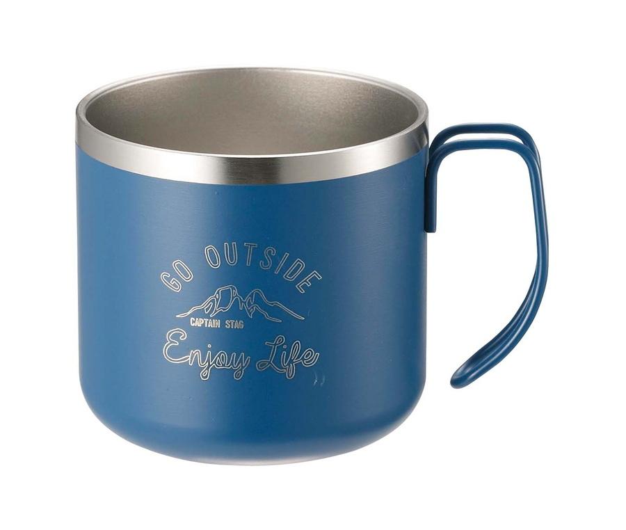 CAPTAIN STAG(キャプテンスタッグ)/モンテ ダブルステンレスマグカップ350(ブルー)