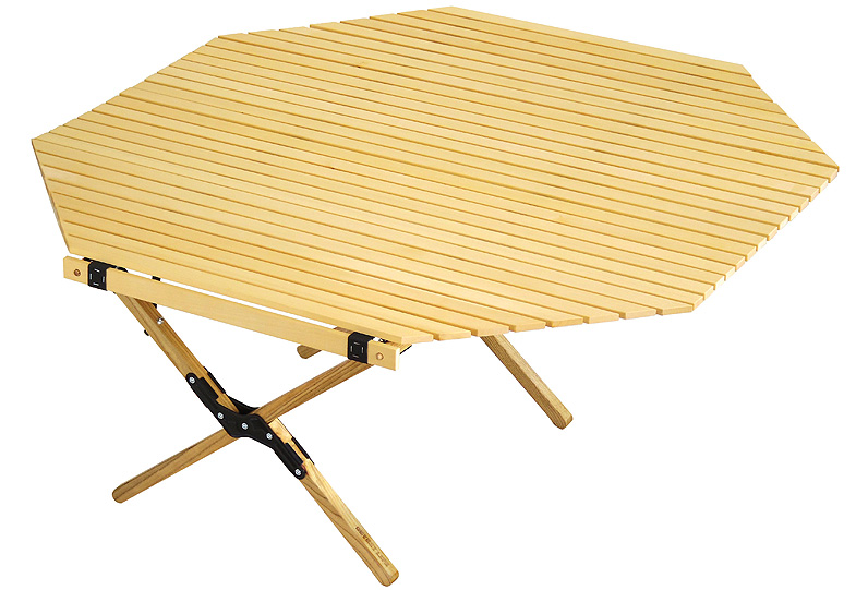 outputlife(アウトプットライフ)/WOOD ROLL TOP TABLE OCTAGON