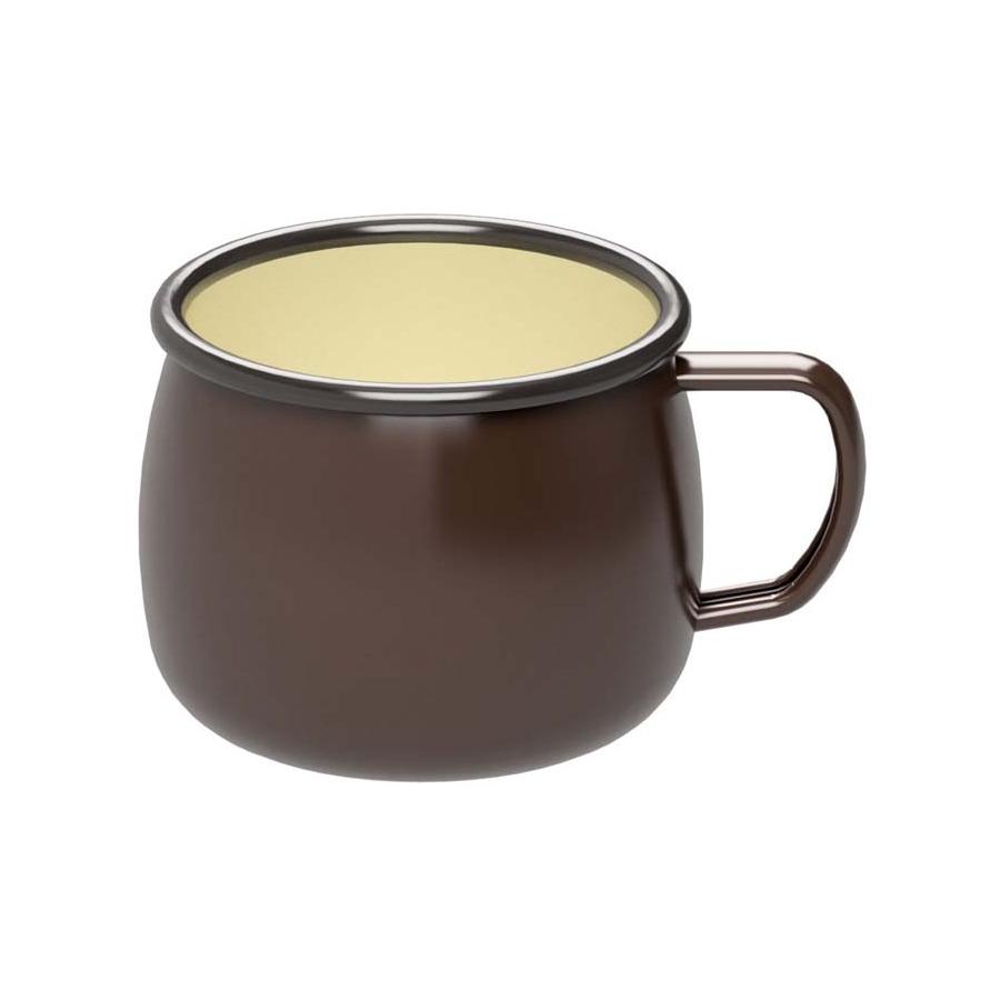 ホーロー マグカップ(ブラウン)