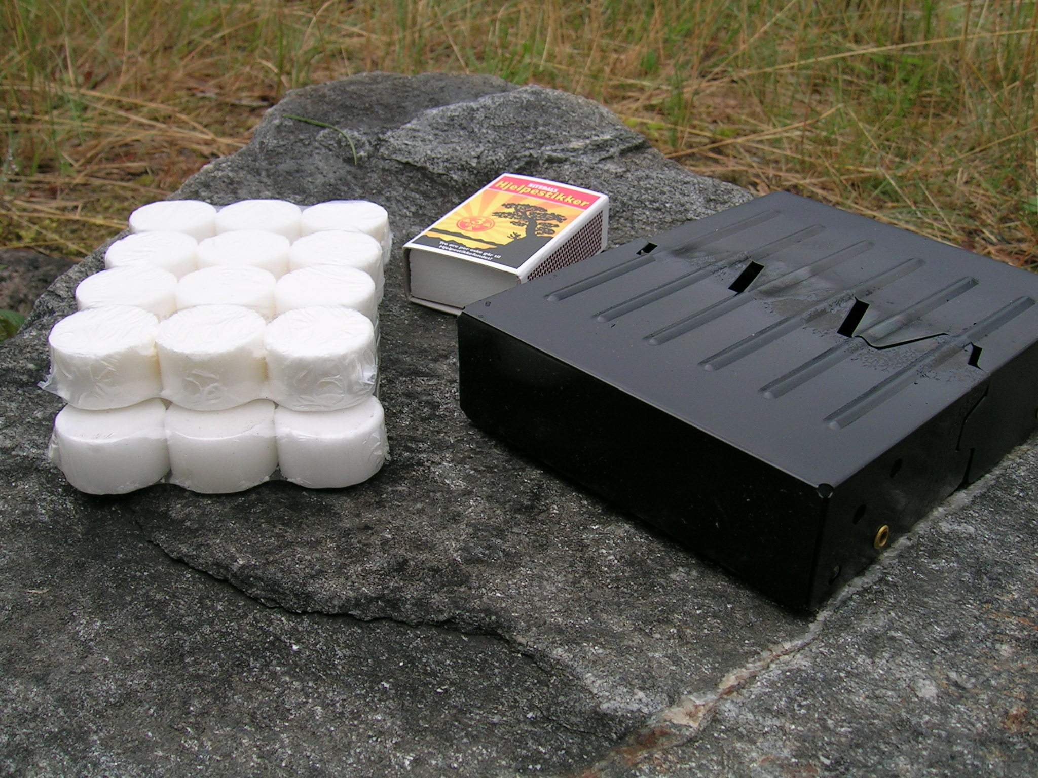 Brenselstativ m/tabletter