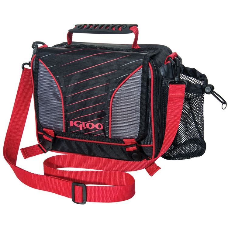 Hot Brights Boys Messenger Lunch Bag Hot Red