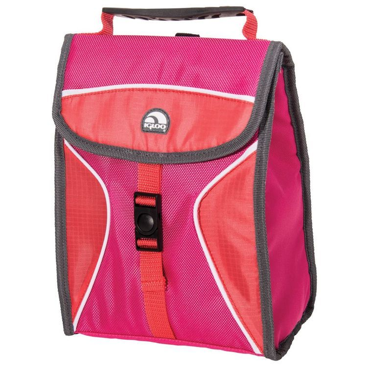 Hot Brights Girls Lunch Bag Pink/Coral