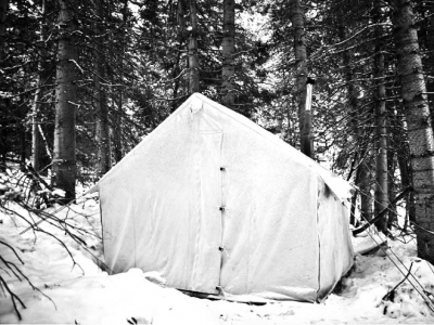 Wall Tent- 10' x 12' - 10.1 oz Army Duck