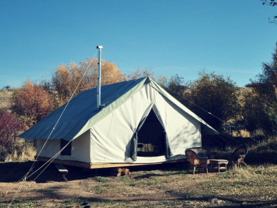 Wall Tent- 10' x 12' - 14.7 oz Duck