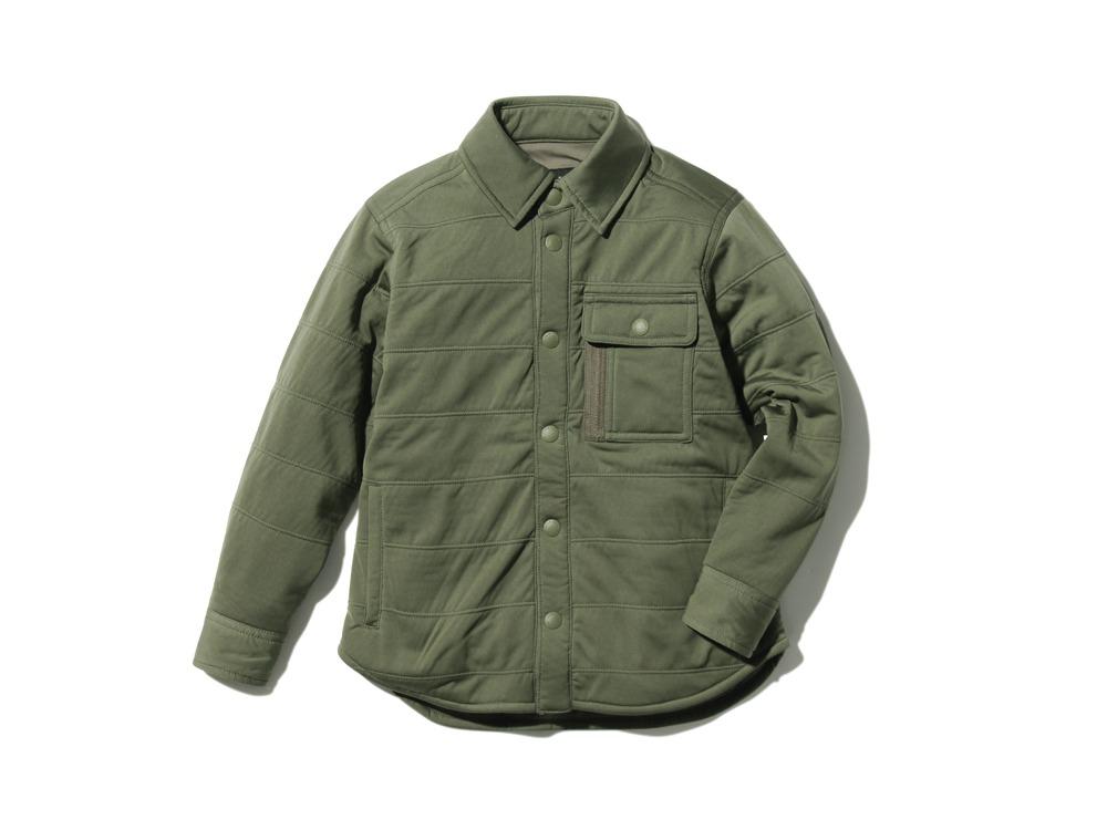 キッズフレキシブルインサレーションシャツ  1 オリーブ SW-18SK00200OL
