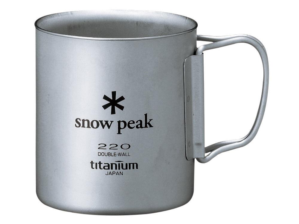 snow peak(スノーピーク)/チタンダブルマグ 220ml フォールディングハンドル