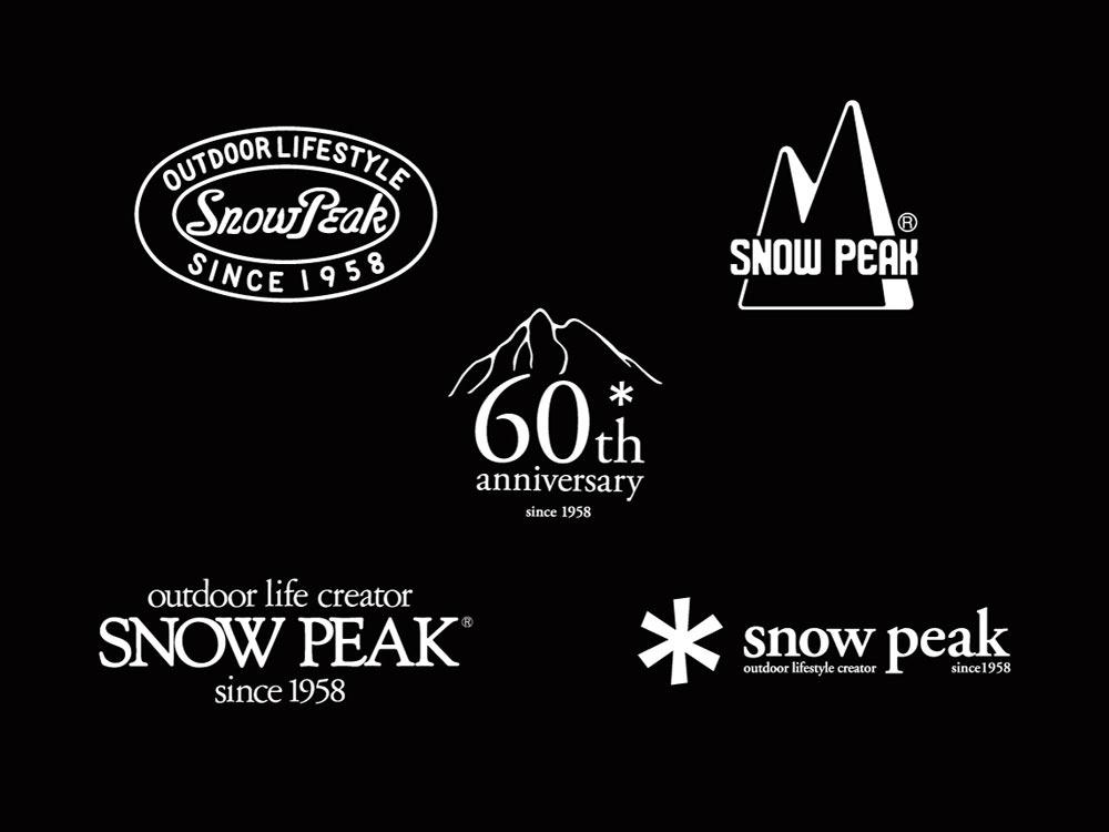 snow peak(スノーピーク)/60周年記念 ロゴアソートシール