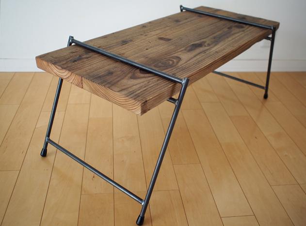 PITAGORA BASE(ピタゴラベース)/足場板とアイアンの組み立てテーブル|LOWダブル