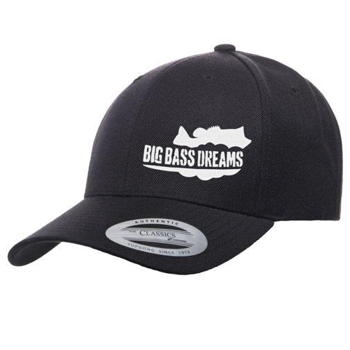 【BIG BASS DREAMS】CURVED BILL HAT BigBassDreams BLACK