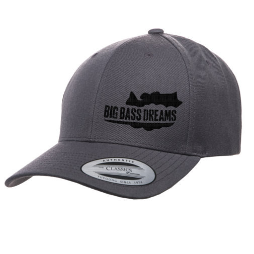 【BIG BASS DREAMS】CURVED BILL HAT BigBassDreams GRAY