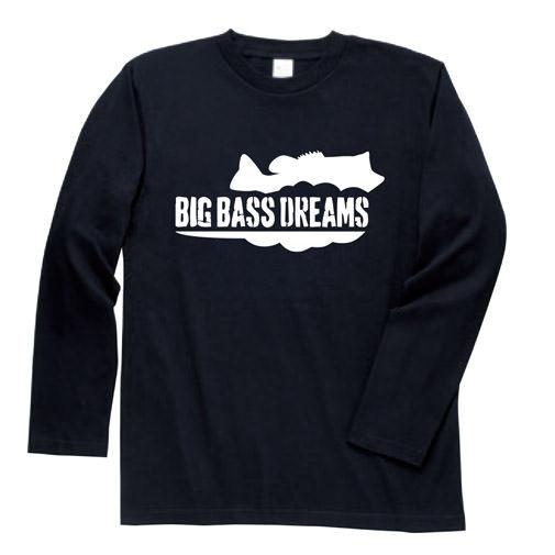【BIG BASS DREAMS】LONG T-SHIRT BigBassDreams BLACK