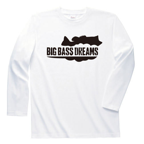 【BIG BASS DREAMS】LONG T-SHIRT BigBassDreams WHITE