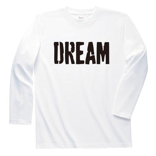【BIG BASS DREAMS】LONG T-SHIRT DREAM WHITE