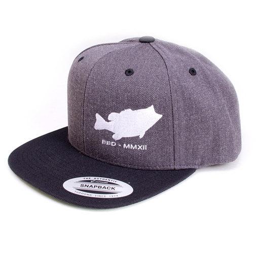 Megabass(メガバス)/【BIG BASS DREAMS】SNAPBACK HAT BASS FISH SIDE GRAY/BLACK
