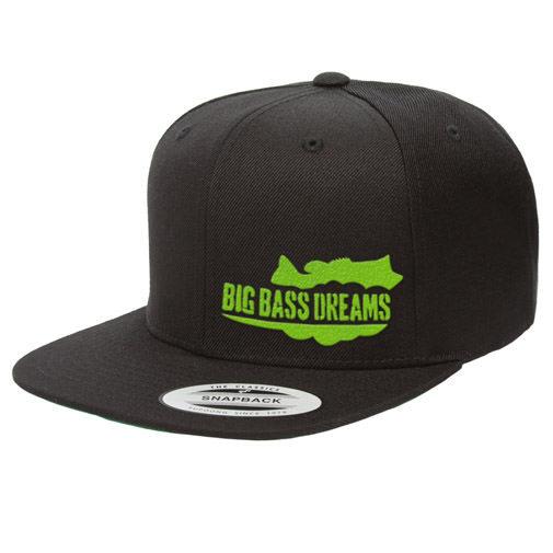 Megabass(メガバス)/【BIG BASS DREAMS】SNAPBACK HAT BigBassDreams BLACK/MONSTER GREEN