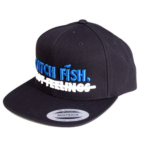 Megabass(メガバス)/【BIG BASS DREAMS】SNAPBACK HAT CATCH FISH BLACK WITH BLUE