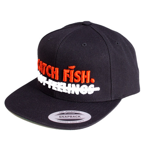 Megabass(メガバス)/【BIG BASS DREAMS】SNAPBACK HAT CATCH FISH BLACK WITH RED