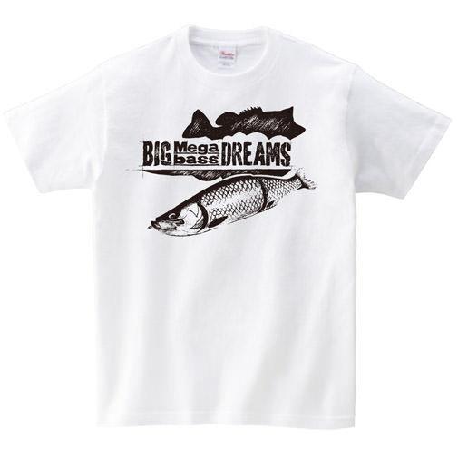 【BIG BASS DREAMS】T-SHIRT BIG MEGABASS DREAMS WHITE