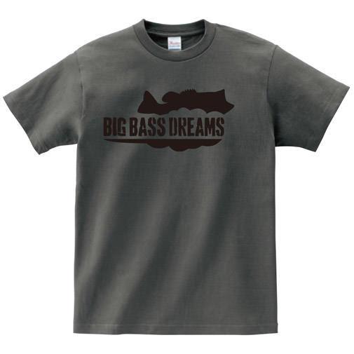 【BIG BASS DREAMS】T-SHIRT BigBassDreams CHARCOAL
