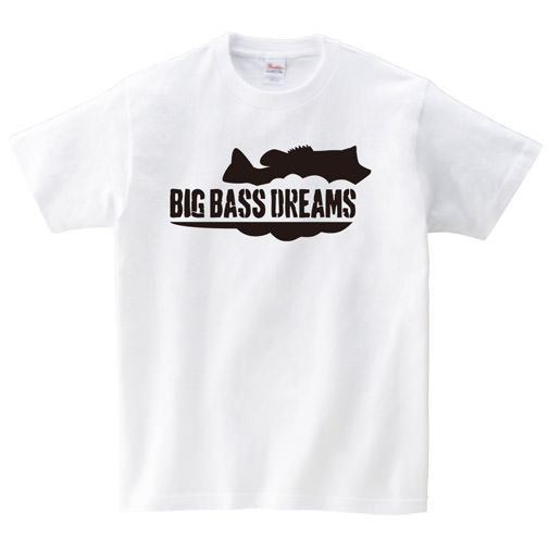 【BIG BASS DREAMS】T-SHIRT BigBassDreams WHITE