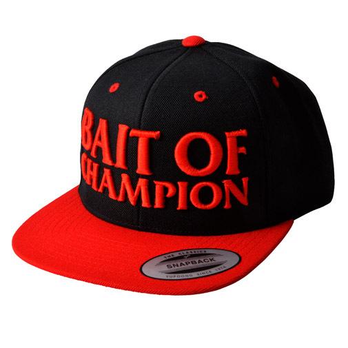 BAIT OF CHAMPION CAP ブラック/レッド