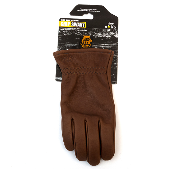 Grip Swany(グリップスワニー)/[G-50] LEATHER WORK GLOVE / BROWN