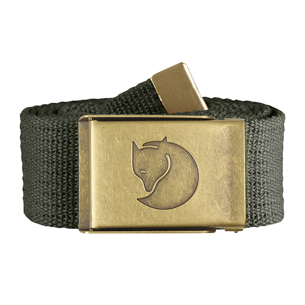 FJALLRAVEN(フェールラーベン)/Canvas Brass Belt 4 cm