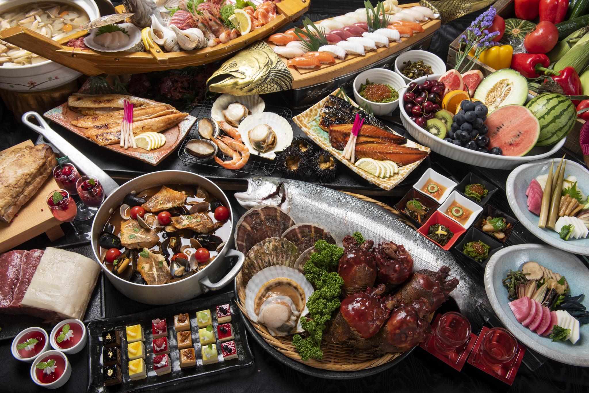 開放的なダイニングレストランで三陸・みやこの郷土料理をお楽しみください。