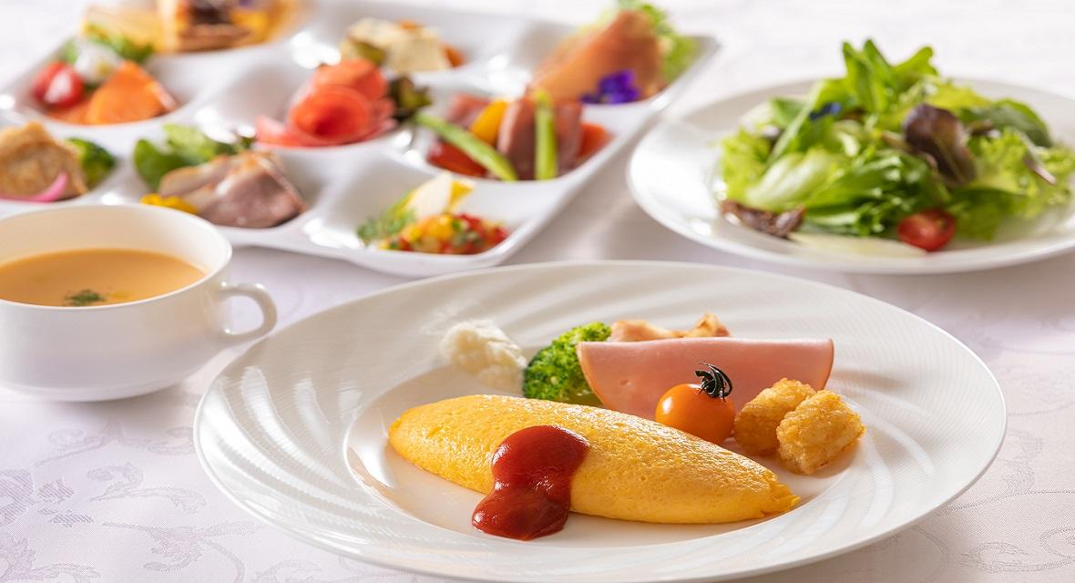 【オプション】朝食イメージ:ホテル特製のご朝食で朝の優雅なひとときをお楽しみください。