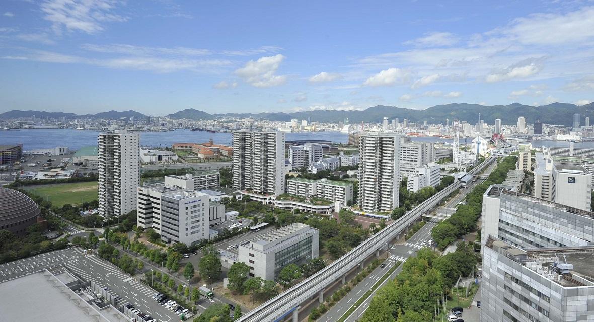 眺望イメージ(神戸の街並みと六甲山)