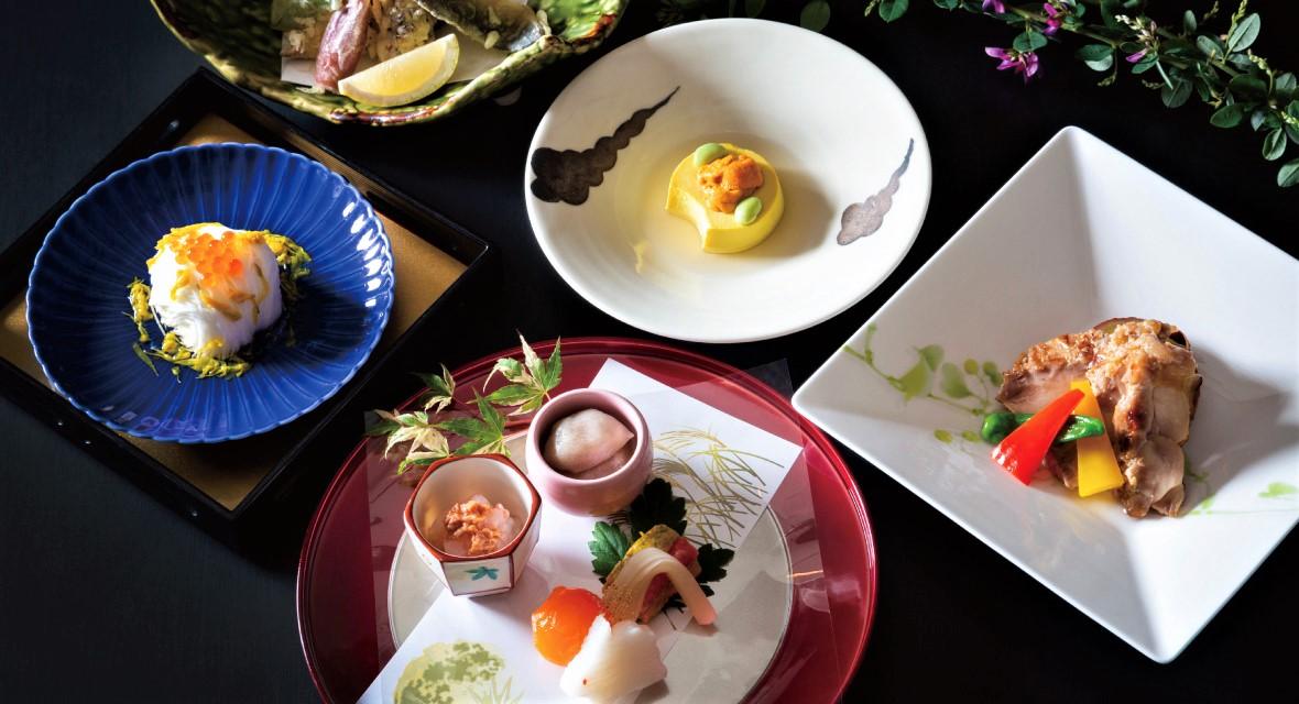 【オプション/日本料理「舟津」料理イメージ】6F 日本料理「舟津」季節ごとの滋味を生かした繊細な懐石料理を中心に、素材本来の持ち味と 料理人の技が冴えわたる極上の日本料理をご堪能ください。 ひと品ごとに、日本の風情豊かな四季を五感でお楽しみください。