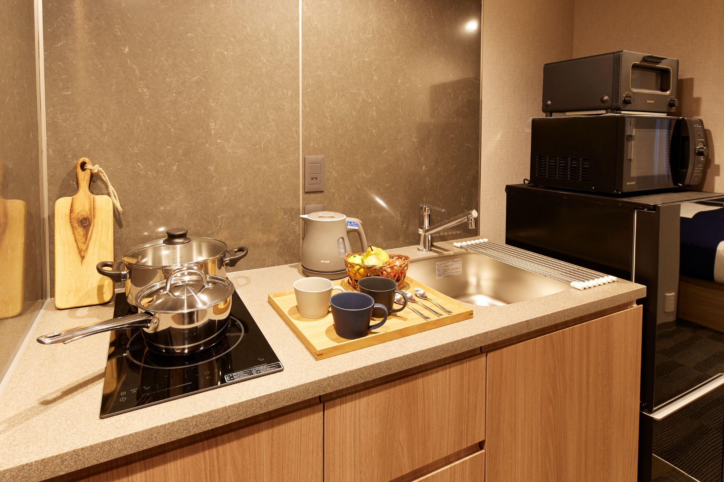調理器具も充実 バルミューダのトースターを各部屋に完備