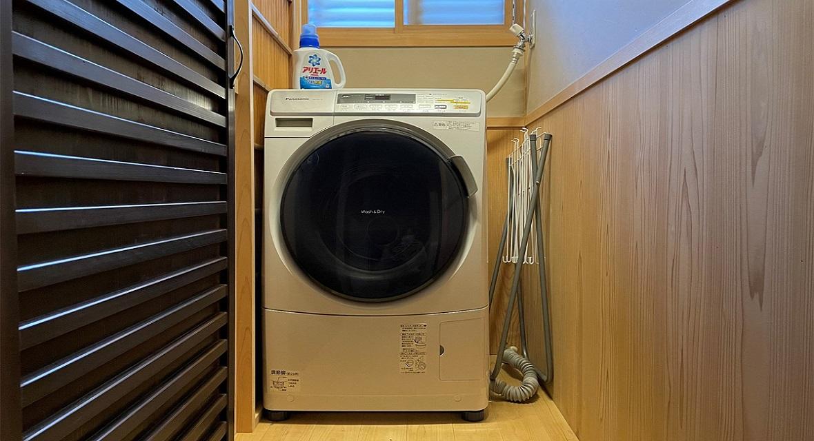 【洗濯機】洗濯洗剤や物干し竿などもご用意しております。