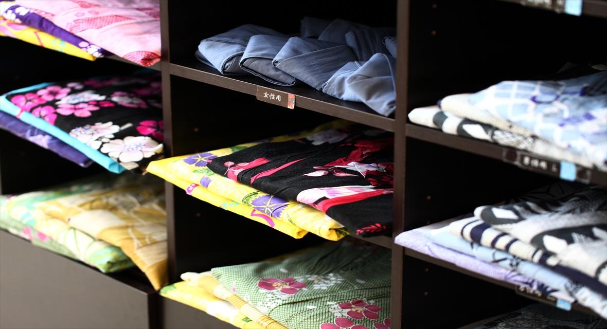 【無料浴衣】色鮮やかな浴衣を種類豊富にご用意しております