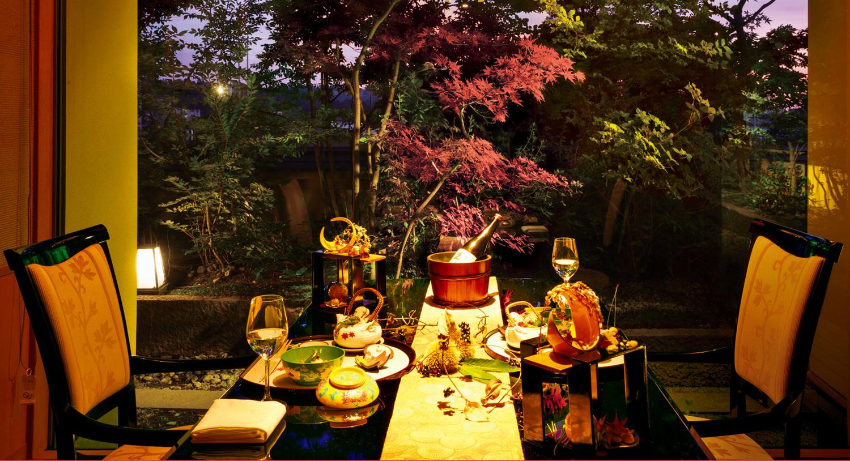 【オプション夕食料理イメージ】「料理の鉄人 大田忠道」がプロデュースする料理の数々を一品ずつ提供