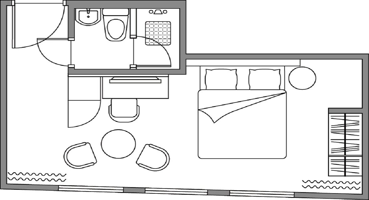 [14連泊]スタジオダブルルーム(約25平米) 1~2名利用プラン