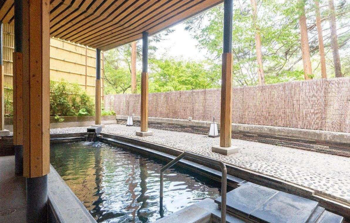 雄大な自然に囲まれての入浴は、最大の楽しみ