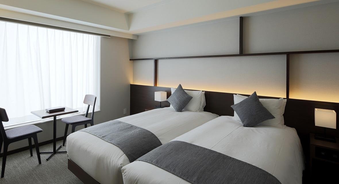【スーペリアツイン(約24平米)】スイスのデザイングループ、アトリエ・オイが、日本で初めて手掛けた空間デザインとインスタレーションです。
